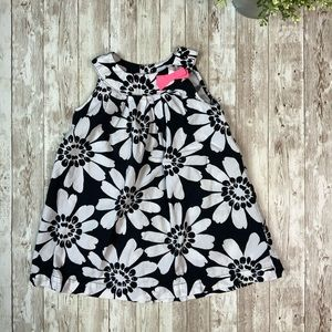 CARTERS Black & White Flower Sleevless Dress